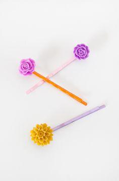 Lilac Bloom Hair Pins