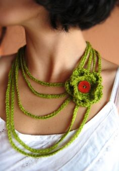 #Crochet on Etsy: Crochet Necklace