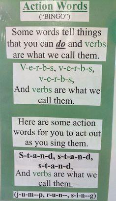Verbs song.