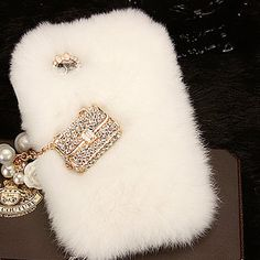 Warm Soft Fur Feather Crystal IPhone 5 Lace