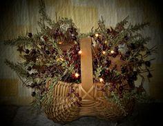 Rose Hip Basket with lights