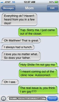 funny auto-correct texts -