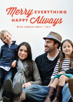 holiday photo cards - merry always by annie clark