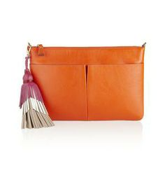 Nevis leather clutch