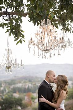 A Good Affair Wedding & Event Production  Christine  Justin ~ Part 1, Private Estate, KLK Photography idea, chandeliers, weddings, outdoor hanging chandelier, soft light, wedding events, hair