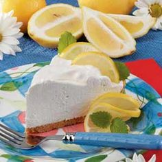 Lemon Yogurt Cream Pie Recipe (make a pecan crust and it's gluten free)