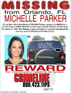 Michelle Parker, Missing Person Orlando Florida, http://www.missingpersonsofamerica.com