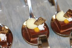 Manjari Valrhona Chocolate Ganache, Passion Fruit Foam, mango Gel, Coconut Powder by Pastry Chef Antonio Bachour, via Flickr