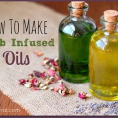 herbal oils, oil infusion