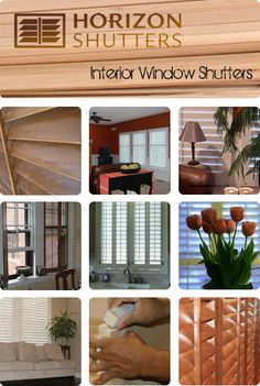 Authentic wood shutters @ http://www.horizonshutters.com.