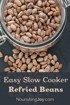 slow cooker refried beans, refri bean, easi slow, delish eat