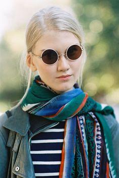 those sunnies. that scarf. that face for heavens sake. Anna Martynova (Next). Paris. #offduty #VanessaJackman