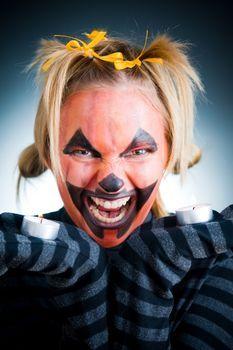 Halloween Face Painting for Children ~ Jack-o-Lantern