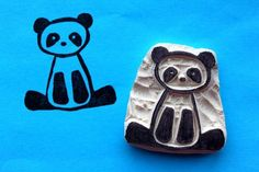 Pand Bear Hand Carved Stamp