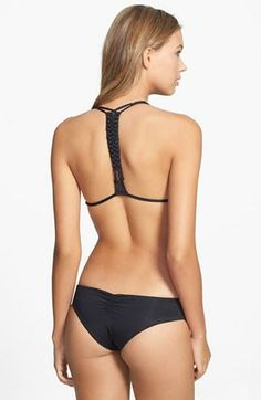 In love with the braided macramé on the back of this bikini top.