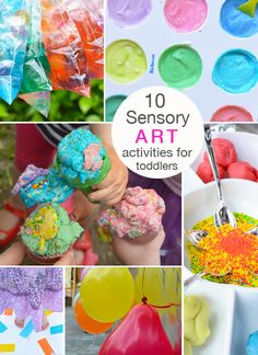 10 Beautiful and Engaging Sensory Art Activities for Toddlers | Meri Cherry Blog