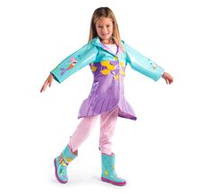 This mermaid rain gear is so fun that it practically doubles as dress up clothes.    http://www.kidorable.com/cart/images/D/mdl_merm_04_100609-01.jpg