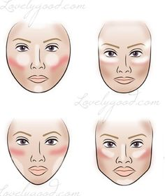 Secrets to contouring and highlighting based on your face shape.
