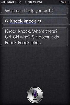 Anti  knock knock joke Siri