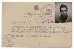 Press card for Robert Capa