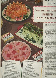 #vintage #Jello #gelatine #food #salad #ad #1940s