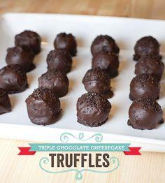 Triple Chocolate Cheesecake Truffles