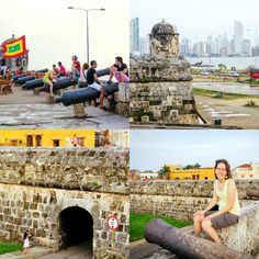 """Real life """"Pirates of the Caribbean"""" -- The fortified walls and canons surrounding Old Town Cartagena, Colombia are reminders of the Caribbean city's pirate past. Today, the walls make a great place to sit and watch the sunset."""