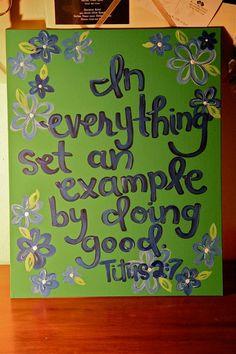Do good. Titus 2:7
