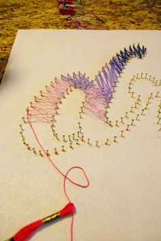 DIY String Art Tutorial- love the end result. might use thin plywood, which would make it heavier but more stable.