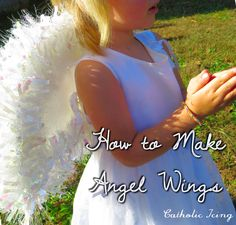 These angel wings are easy to make, and sparkle in the sun! Great for All Saints' day or for a Christmas pageant.