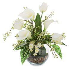 Floral Arrangement in Glass