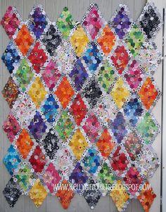 quilt hexagon, kelli girl, sew hexi, hexagon diamond, hex quilt, quilt art, girl quilt