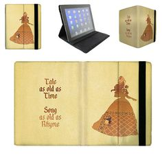 Belle Tale as Old as Time Quote - iPad 2 3 4 Mini Flip Case Cover in Book Style with Hard Shell