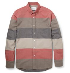 Saturdays Surf NYC Crosby Slim-Fit Striped Cotton-Poplin Shirt | MR PORTER
