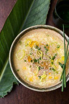 Cantonese Corn Soup by sheknows #Soup #Corn #Cantonese