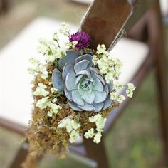 The Ceremony Décor wedding ceremonies, decor wedding, chairs, color, wedding ideas, pew decorations, ceremoni décor, chair decorations, flower