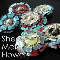 Sheet metal flowers
