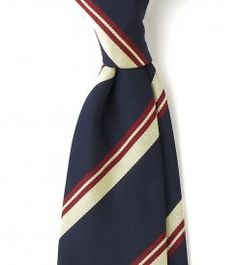 Untipped Woven Reppe 7cm Silk Tie