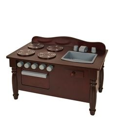 Take a look at this Espresso Doll Play Kitchen by Guidecraft on #zulily today!