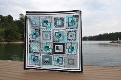 13 thought, color, beauti quilt, black white, sewingcraft project