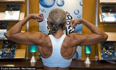 74-year old Ernestine Shepherd, the oldest competitive female bodybuilder