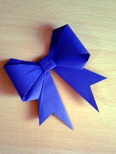 DIY origami gift bow