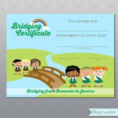 FREE Girl Scout Bridging Certificates by BitsyCreations #freeprintable