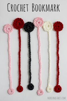 Crochet Bookmark Pattern @makeandtakes.com #crochetaday