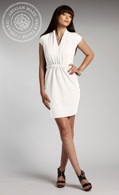 "INDIGENOUS organic + fair trade fashion: pima cotton Luxury Dress in white. Article: ""Dressing for good!"""