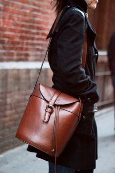 #bag #leather #brown