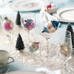 Ornament Centerpiece DIY from Taste of Home