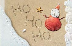 HO HO HO Embossed Christmas Cards