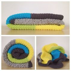 Crochet Color Block Blanket Pattern - amazing colors. Pattern is only $5! Perfect for beginners.