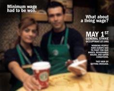 Minimum wage had to be won. #M1GS